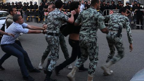 Saudi media said protesters had attempted to storm and threaten the security of its embassy in Cairo.