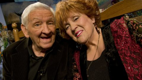 """George Lindsey and Lulu Roman attend Country's Family Reunion Salute to the Kornfield in May  2011 in Nashville, Tennessee. Roman was a regular on the TV series """"Hee Haw,"""" which also featured Lindsey's Goober character."""