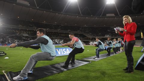 Logan looks on as her husband Kenny, a former rugby union international, competes in a celebrity tug-of-war. About 40,000 spectators watched entertainers including impressionist Jon Culshaw, actor Hugh Bonneville, former Spice Girl Melanie C, rapper Chipmunk and comedian Jack Whitehall.
