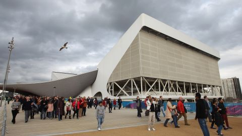 It was the first time many visitors had walked around the Olympic grounds, including the new aquatics center. They appeared cautiously optimistic about the site, with one family telling CNN the seats were comfortable but there was a lack of rubbish bins.