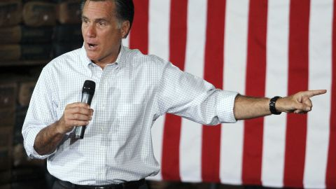 Presumptive GOP presidential nominee Mitt Romney campaigned in Pittsburgh, Pennsylvania on May 4, 2012.
