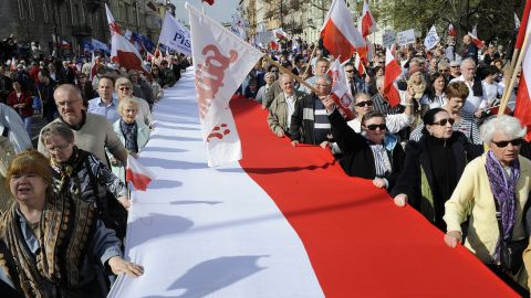 Poland declared independence in 1918  following more than 120 years when it came under Russian, Prussian, and Austrian rule. Nazi Germany's invasion of Poland in 1939 sparked the Second World War, during which six million Poles died, including the majority of its Jewish population.  After the war Poland became a communist state and member of the Warsaw Pact.  In 1989, it became the first member of the Soviet bloc to establish a non-communist government and joined the European Union in 2004.
