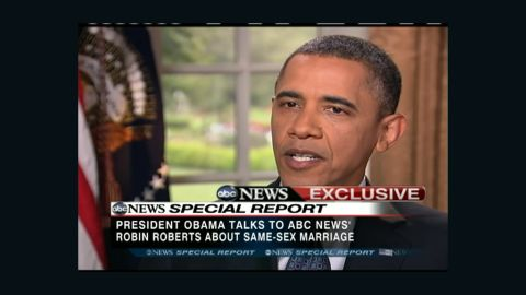Obama speaks on ABS about same-sex marriage.