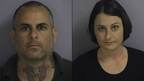 """Marcus and Patricia Faella  are two of 10 alleged members of a white supremacist group accused of a plot to start a """"race war."""""""
