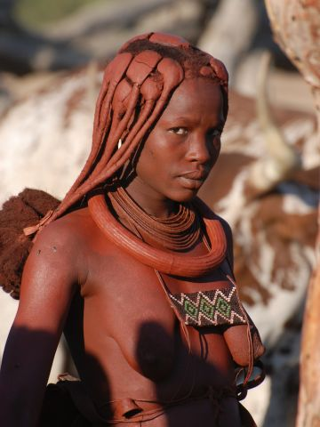 Some have speculated the <em>otjize </em>is applied for sun protection or to ward off insects, but the Himba say it is for aesthetic reasons.