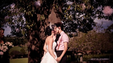 """Their marriage had all the hallmarks of a traditional wedding, except two women were involved -- and their union is not recognized under Australian law. <a href=""""http://twobirdsnest.com/"""" target=""""_blank"""" target=""""_blank"""">Twobirdsnest.com</a>"""