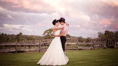 """Cushla and Tania were married on a farm outside Sydney on March 9, 2012. The entire family attended the ceremony, including Tania's grandparents who are Muslim.  <a href=""""http://twobirdsnest.com/"""" target=""""_blank"""" target=""""_blank"""">Twobirdsnest.com</a>"""