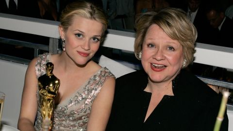 """Reese Witherspoon (L) and her mother Mary Elizabeth """"Betty"""" Witherspoon, shown here after the Academy Awards in 2006."""