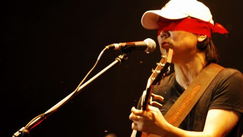 Cui Jian's music blends western rock n' roll influences with more traditional Chinese sounds.