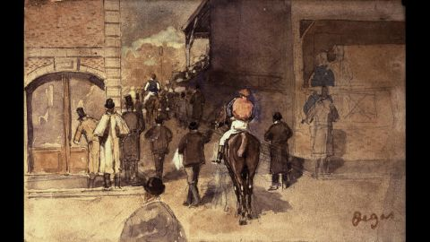 """Pictured here: a fourth of Degas' """"Gouache"""" drawings."""