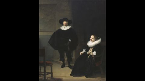 """""""A Lady and Gentleman in Black"""" by Rembrandt"""