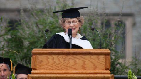 Dawson received an honorary degree at Atlanta's Oglethorpe University on Saturday.