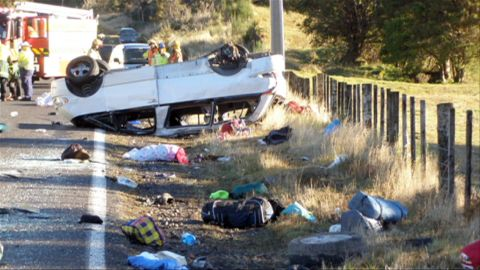 Police hope to today interview the survivors of a road crash which killed three American students.