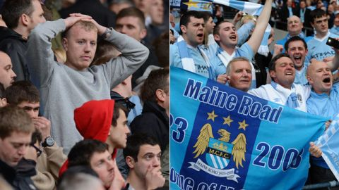 On a day of high drama and emotion, the blue half of Manchester was left to celebrate as Manchester City pipped their city rivals to the title. Click on for the highlights ...
