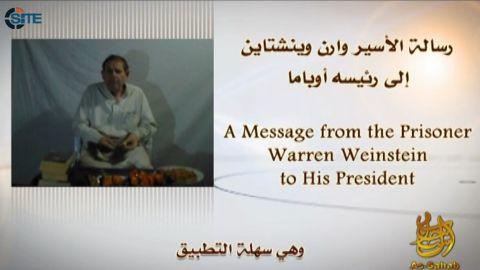 A screengrab shows Warren Weinstein urging U.S. President Barack Obama to answer al-Qaeda's demands or he will be killed.