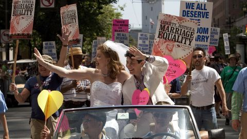 Michael Dorf and Sid Tarrow say national conservative opposition helped bring gay marriage to the top of the LGBT agenda.
