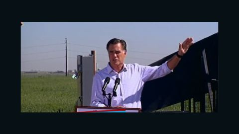 Mitt Romney delivers a stump speech - file photo