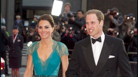 The Duchess of Cambridge stunned in a Jenny Packham gown at an event hosted by the British Olympic Association. The teal number, complete with a lace back, is just one of her many noteworthy looks.