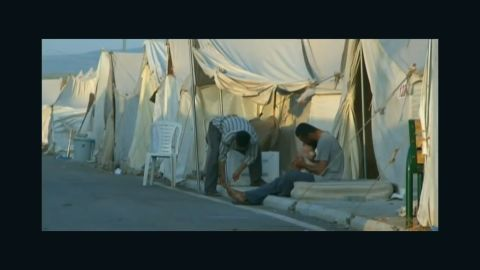 CNN's Anderson Cooper visited a refugee camp on the Turkey-Syria border on May 15, 2012