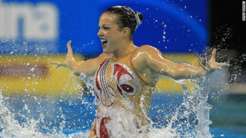 Mary Killman competes for the United States in the Solo Tech final at the 2011 World Championships held in Shanghai.