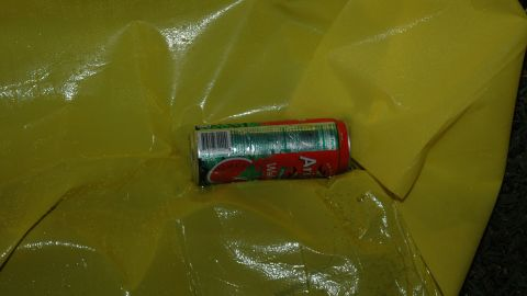 A can of Arizona iced tea was found on the ground at the Martin crime scene.