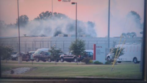 Prisoners rioted at the  Adams County Correctional Facility in Natchez, Mississippi, on Sunday.