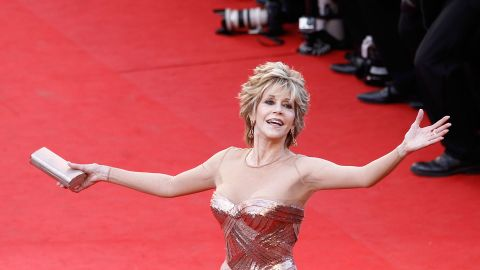 """Jane Fonda attends the """"Moonrise Kingdom"""" premiere. At 74, the actress wowed the crowds in a stunning Versace gown."""