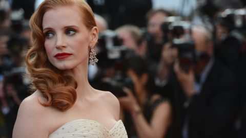 """Actress Jessica Chastain attends the screening of """"Madagascar 3: Europe's Most Wanted."""" She does the voice of Gia the Jaguar."""