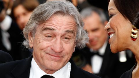 """Robert De Niro and his wife, Grace Hightower, attend the """"Once Upon A Time in America"""" screening. De Niro plays an ex-gangster in the restored 1984 classic Italian film."""
