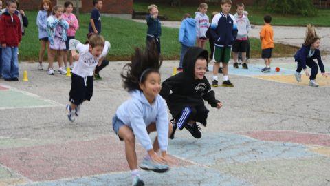 Students in Natick, Massachusetts, participate in the BOKS before-school program.