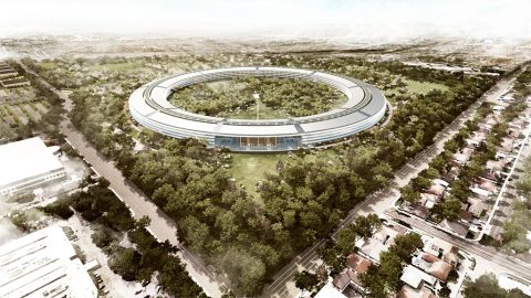 Apple's second campus in Cupertino, California, is scheduled to be completed in 2015. The campus will cover 2.8 million square feet and house 13,000 employees.