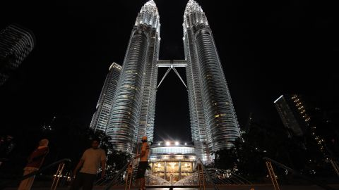 Malaysia's Petronas Towers, at 452 meters, was completed in 1998. The country's markets lost half their value by the end of 2007 as the Asian financial crisis roiled markets.