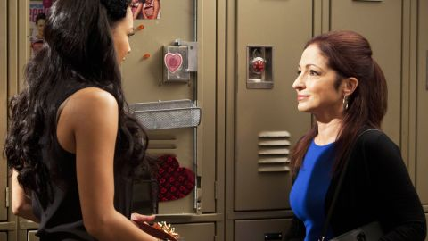 """A still from the season finale of """"Glee"""" with Gloria Estefan (right)."""
