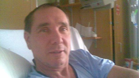 Percy von Lipinski says his wife saved his life by making him seek medical attention for his hand.