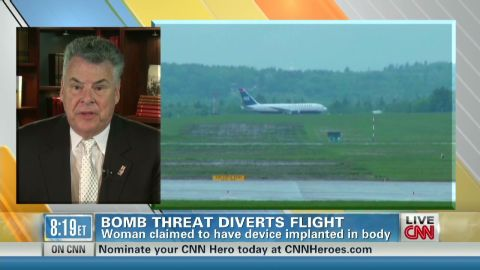 exp Point Rep. Peter King talks about US Airways bomb scare_00022910