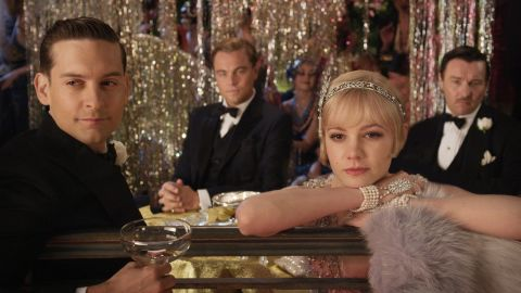 """<strong>""""The Great Gatsby"""":</strong> F. Scott Fitzgerald's classic Jazz Age novel is about a wealthy bootlegger, his old flame, her caddish husband and the trouble caused by their destructive relationships. It's been made into a movie several times, most recently a 1974 film starring Robert Redford and a 2013 film (pictured) with Leonardo DiCaprio and Carey Mulligan."""