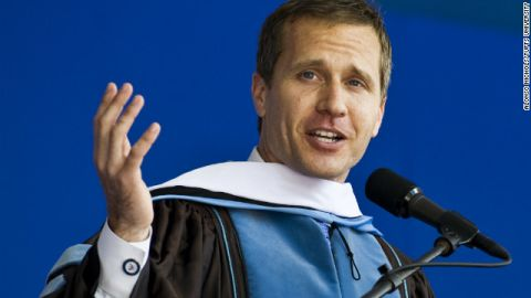 Eric Greitens gives the commencement speech at Tufts University on Sunday.