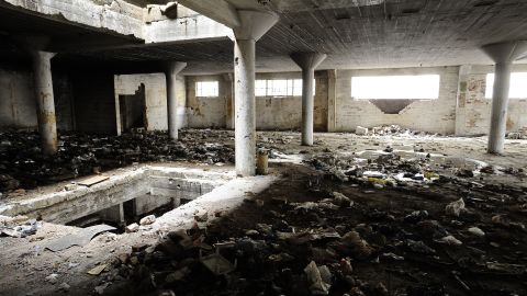 The inside of a derelict building facing renovation in central Johannesburg. When business deserted the city center in the 1990s, squatters took over. The buildings are gradually being reclaimed as companies return.