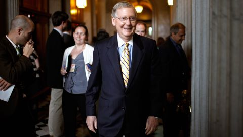 """Senate Minority Leader Mitch McConnell, R-Kentucky, said Democrats """"wanted a scapegoat more than a solution."""""""