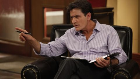 """Charlie Sheen's """"Anger Management"""" was picked up for a 90-episode renewal, FX announced."""