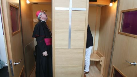 Some of the larger items that could be supplied are confessional boxes with air-conditioning and heating, handy for many of eastern Europe's chilly, Gothic churches.
