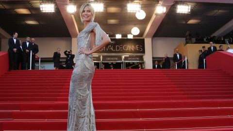 """Model Heidi Klumarrives for the screening of """"The Paperboy"""" at Cannes on Thursday."""