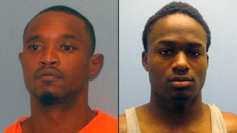 Quincy Vernard Stewart, left, escaped with Cortez Rashod Hooper, right.