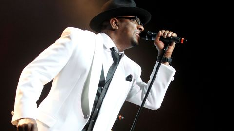 Bobby Brown performs with New Edition on February 18, 2012 in Uncasville, Connecticut.