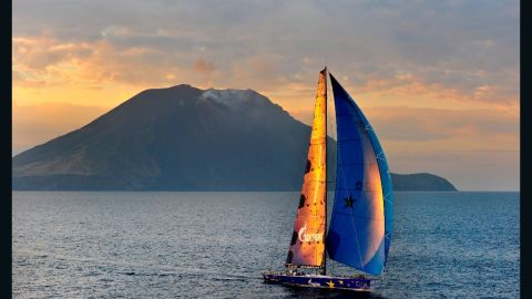 """Although she was built in Australia the """"Esimit Europa 2"""" is a truly pan-European boat - judiciously  switching home port within Europe every year."""