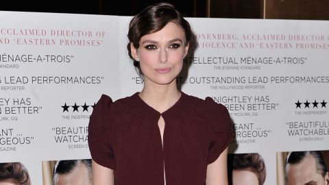"""Keira Knightley attends the film premiere of """"A Dangerous Method"""" in January."""