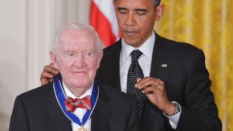 Retired Justice John Paul Stevens received the Presidential Medal of Freedom from President Obama.