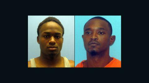 Cortez Rashod Hooper, left, and Quincy Vernard Stewart cut the bars off a small window, authorities say.