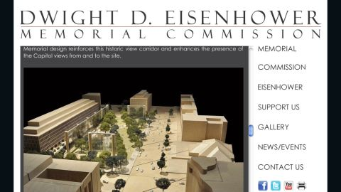Disagreements persist between The Dwight D. Eisenhower Memorial Commission and the Eisenhower family.