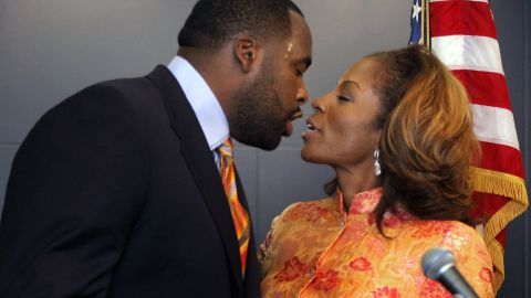 """<strong>Kwame Kilpatrick is </strong>the former Detroit mayor who pleaded guilty to obstruction of justice after investigators showed text messages between him and his mistress involving sex that he said never happened. In response to her text about whether he missed her sexually, he replied: """"<a href=""""http://www.freep.com/apps/pbcs.dll/article?AID=/20080124/NEWS05/801240414&theme=KILPATRICK082007 <http://www.freep.com/apps/pbcs.dll/article?AID=/20080124/NEWS05/801240414&theme=KILPATRICK082007"""" target=""""_blank"""" target=""""_blank"""">Hell yeah! You couldn't tell. I want some more</a>."""" In October 2013, Kilpatrick was sentenced to 28 years in prison after his conviction on two dozen federal charges, including racketeering, extortion and the filing of false tax returns."""